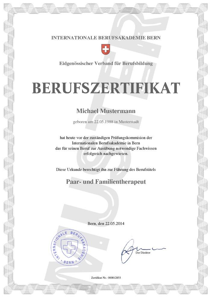 Berufszertifikat Schweiz kaufen
