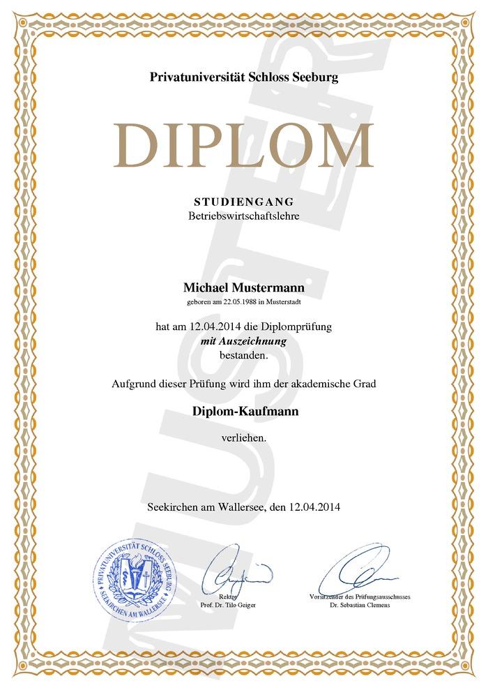 Diplom Urkunde Kaufen Muster 01