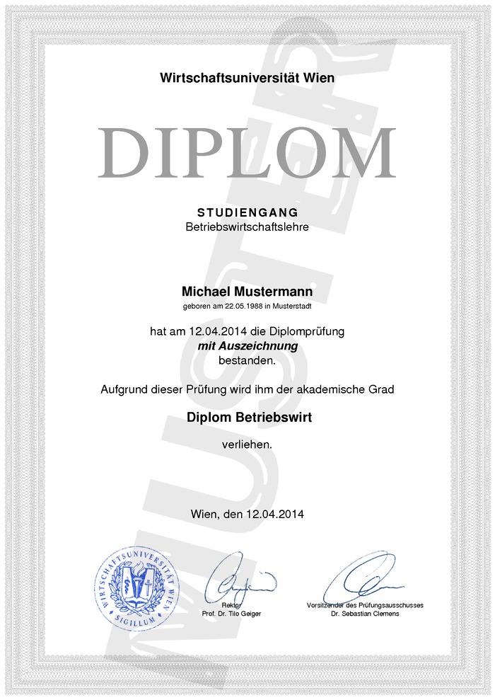 Diplom Urkunde Kaufen Muster 03