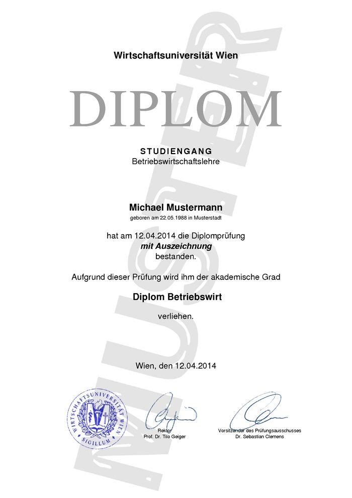 Diplom Urkunde Kaufen Muster 04