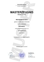 Master Zeugnis Kaufen Muster (classic)