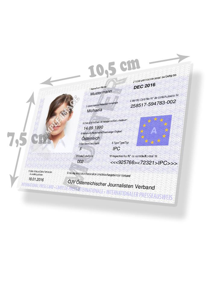Internationaler Presseausweis Kaufen - Muster 01