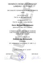 Dr. h. c. - Ehrendoktortitel kaufen - Muster 01 - Germany