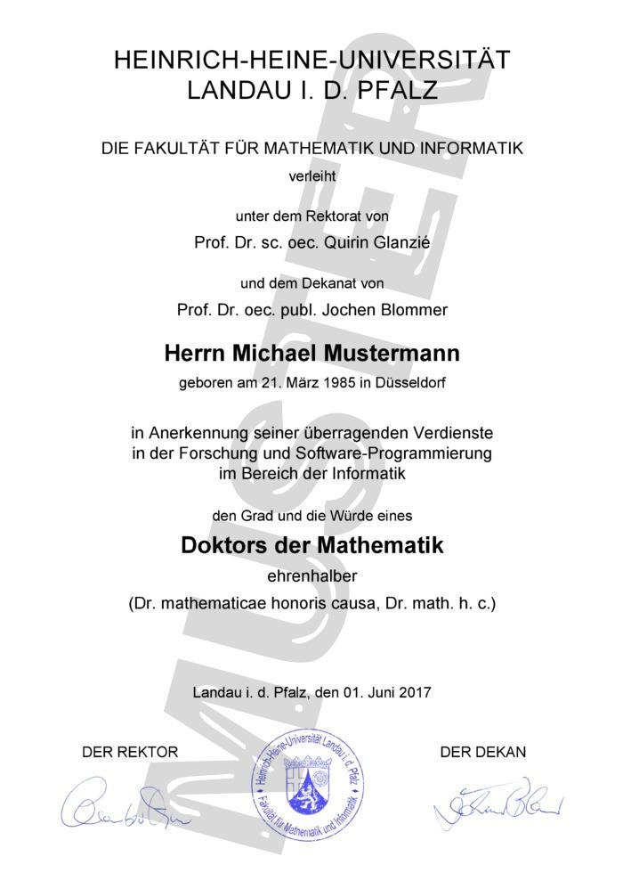 Dr. h. c. - Ehrendoktortitel kaufen